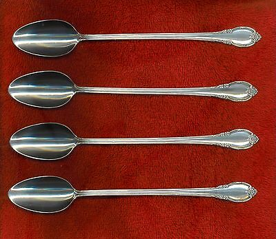 1847 Rogers Bros 1936 REMEMBRANCE 4 Ice Tea Beverage Spoons Excellent Free Ship