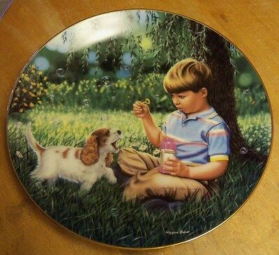 Collector Plate JUSTIN ~ 8th in Treasured Days Collection by Higgins Bond ~ COA
