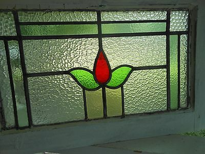 JF-7 Lovely Older Multi-Color Leaded Stain Glass Window From England
