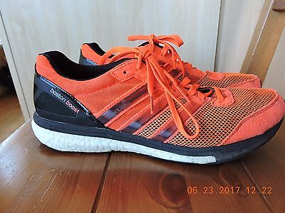 Adidas boston boost men's orange -red textile upper athletic shoes Size 10
