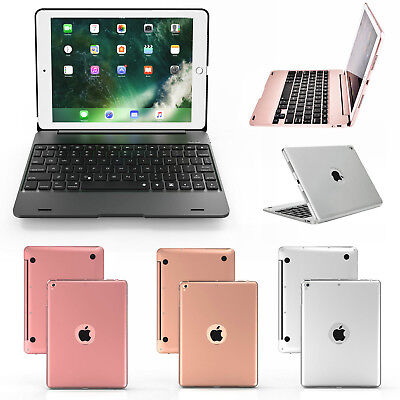 """for 2017 2018 iPad 5 & 6 Gen 9.7"""" Trifold PU Leather Case Cover with Keyboard"""