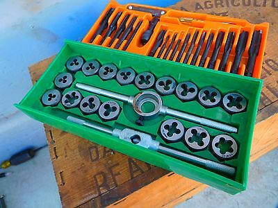40 Pcs Alloy Steel Combination Tap and Die Set NC & NF + Pipe All Trade Japan