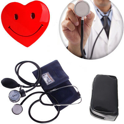 Blood Pressure Monitor Manual Stethoscope+Sphygmomanometer Nurse Equipment 2017