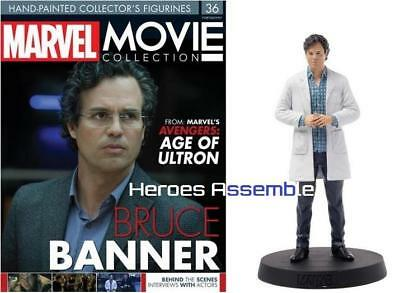 Marvel Movie Collection #36 Bruce Banner Figurine Eaglemoss (34 35) New