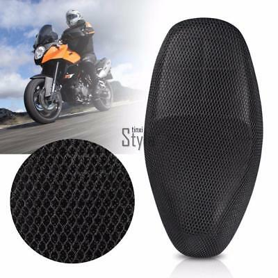 Breathable Mesh Anti-Slip Motorcycle Moped Motorbike Seat Covers Cushion TU