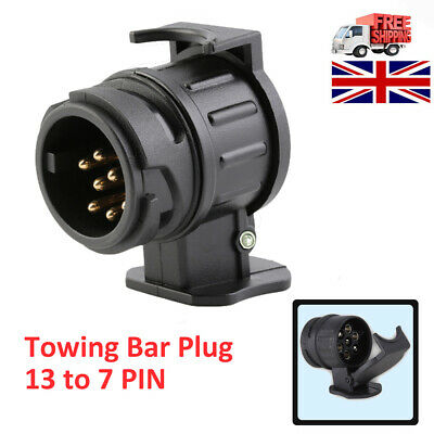 13 to 7 Pin Trailer Truck Electric Towing Converter Tow Bar Plug Adaptor Socket