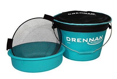 Drennan NEW Coarse Fishing Aqua 25 Ltr Bait Bucket Set