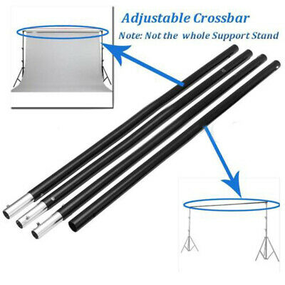 Adjustable Photography Backdrop Photo Studio Support Stand Crossbar Pole 3m/10Ft
