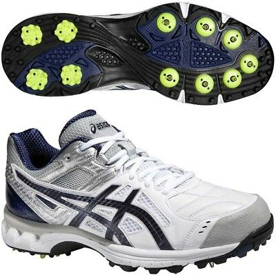 Asics Gel 220 Not Out Mens Cricket Shoes - White