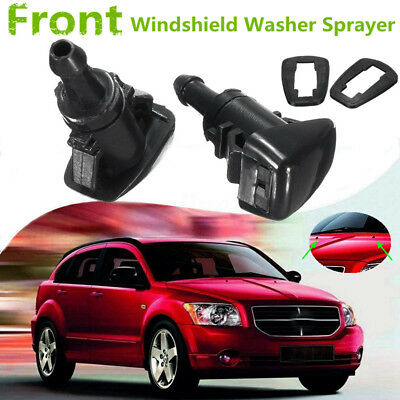 One Pair Windshield Wiper Water Spray Jet Washer Nozzle For 07-12 Dodge Caliber