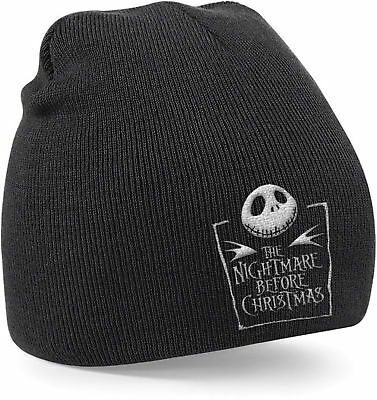 THE NIGHTMARE BEFORE CHRISTMAS Jack Skellington Logo BEANIE MÜTZE SKI HAT MERCH