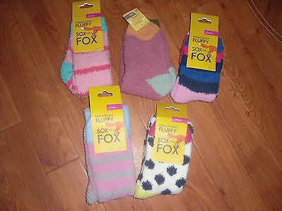 Bnwt Girls Joules Fluffy Socks Size S/m 9-12 Or M/l 3-13.free Postage Extra Pair