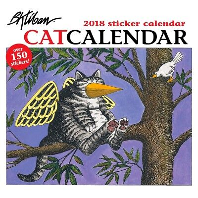 2018 B.Kliban Cat Sticker Wall Calendar