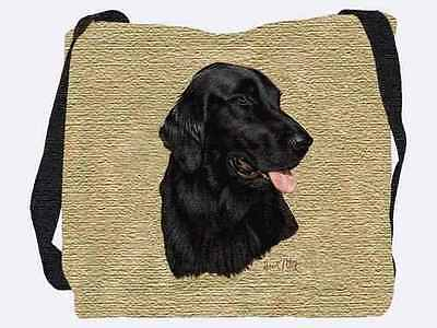 Woven Tote Bag - Flat-Coated Retriever 1937