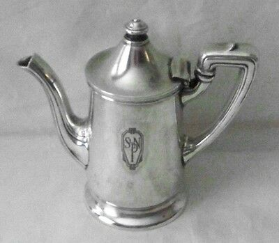 Antique  Reed & Barton North Plaza Hotel Silver Soldered 10Oz  Teapot