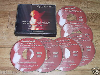 Agatha Christie THE ADVENTURE OF THE CHRISTMAS PUDDING & Other Stories Audio CDs