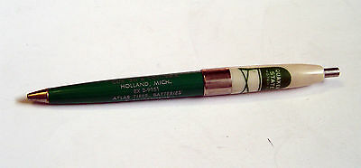 MINT OLD HOLLAND MICH 1950s QUAKER STATE MOTOR OIL ADVERTISING BALL POINT PEN