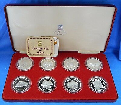 1977 Crown of Crowns Proof Silver Jubilee 8-Coin Set OGP Pobjoy Mint  6426