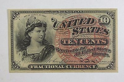 BARGAIN US Fractional Currency 10-Cents Note 4th Issue 1869-1875 ALMOST UNC