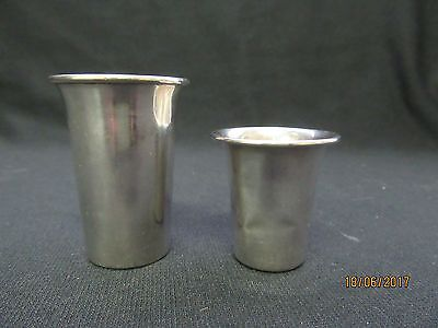 2 Vintage Webster Sterling Silver Jiggers 22 Grams