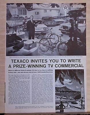1960 magazine ad for Texaco - Write a prize winning TV commercial, Bill Malone