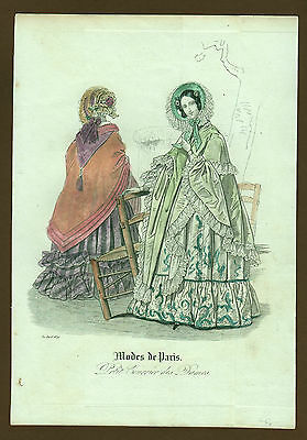 Mode Damenmode Ladies ' Fashion No 2 , franz. Kupferstich datiert 1839
