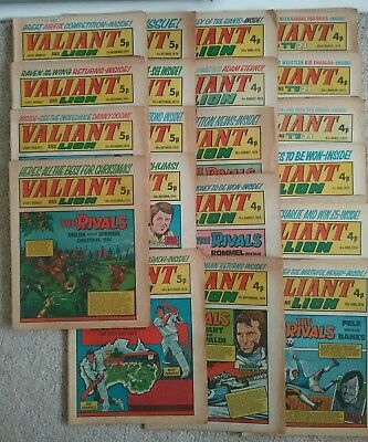 20 British VALIANT comics From 1974 - Only £16.99 POSTFREE