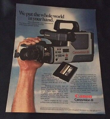 1985 Canon Canovision 8 - The 8Mm Video Camera / Recorder Original Print Ad