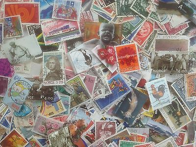 500 Different Norway Stamp Collection - Large only
