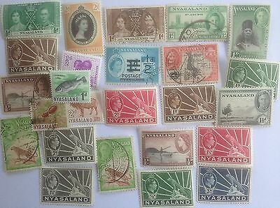 25 Different Nyasaland Stamp Collection