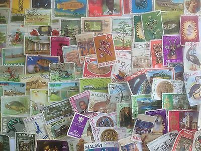 250 Different Nyasaland and Malawi Stamp Collection