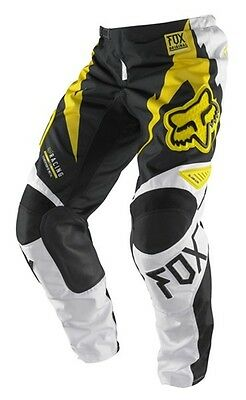 Fox Racing Mens 180 Giant Pants Mx Offroad Atv Yellow Size 34
