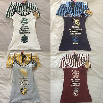 HARRY POTTER Ladies Pyjamas Primark HOGWARTS Cami Vest Shorts Womens Pajamas