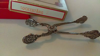 SWEDEN Sockertang TONGS Silverplate NEW OLD STOCK