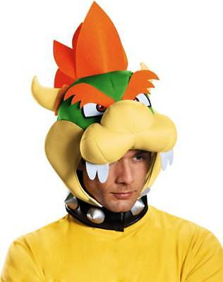 Licensed Nintendo Super Mario Brothers Bowser Headpiece Adult Costume Accessory