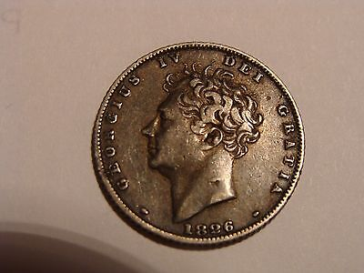 * 1826 King George IV Sterling Silver Coin !