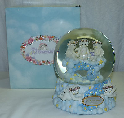 Westland Cherubs Dreamsicles Flying Lesson Musical Snow Globe Fly Me to the Moon