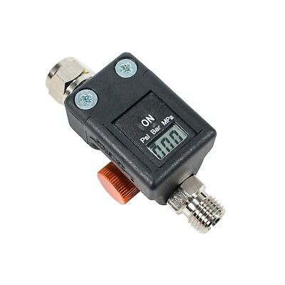 Digital HVLP Spray Gun Air Regulator with Pressure Gauge - Compact Size