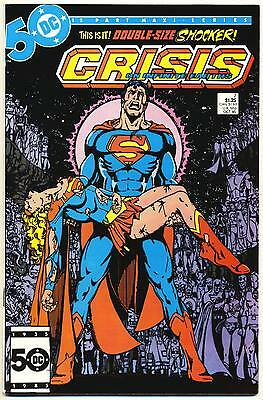 CRISIS ON INFINITE EARTHS #7 VF, Death of Supergirl, Direct c, DC Comics 1985