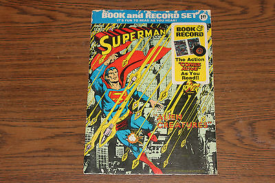 Vintage 1975 Superman Alien Creatures Book and Record Set, 45 RPM, Power Records