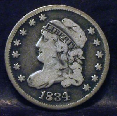 1834 Capped Bust Half Dime Id#mm521