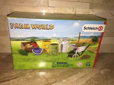 Schleich World Of Nature Farm World Feeding The Animals Set 42301
