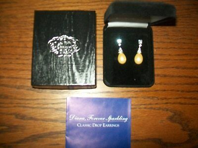 Princess Diana's Pearl Earrings   - Franklin Mint - NEW