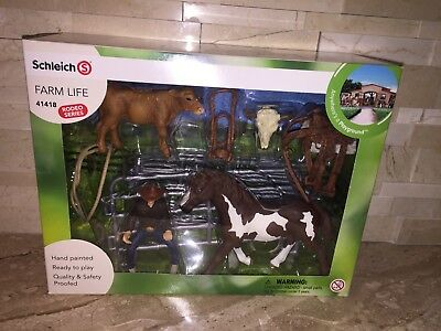 Schleich Farm Life Rodeo Series 41418 Team Roping Cowboy Set
