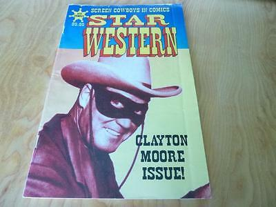Screen  Cowboys In Comics Star Western Clayton Moore Issue The Bronze Buckaroo