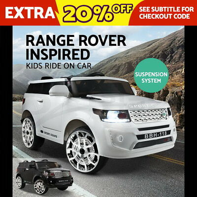 Electric Kids Ride On Car Land Rover Toys Battery Children Remote Music WH BK