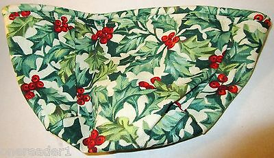 Longaberger AMERICAN HOLLY Christmas SMALL COMFORTS Basket LINER ONLY