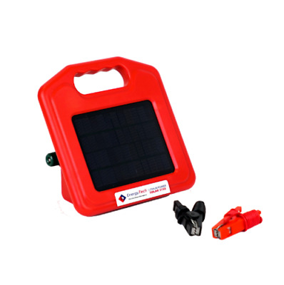 3KM - 5KM Solar Electric Fence Energiser Solar Rechargeable, Lithium Battery