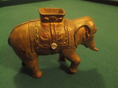 CR) RARE Heavy Cast Circus Elephant Bank