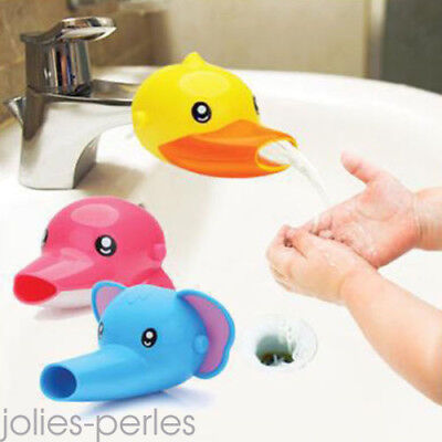 New Kid Hand Washing in Bathroom Sink Faucet Extender For Helps Children Toddler